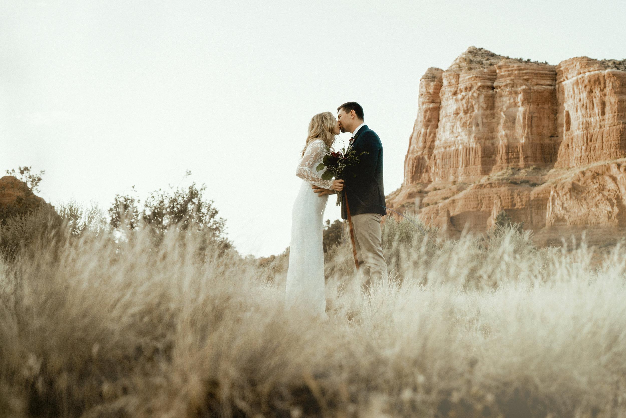 Brad & Taylor - Picturesque Sedona, Arizona elopement shoot
