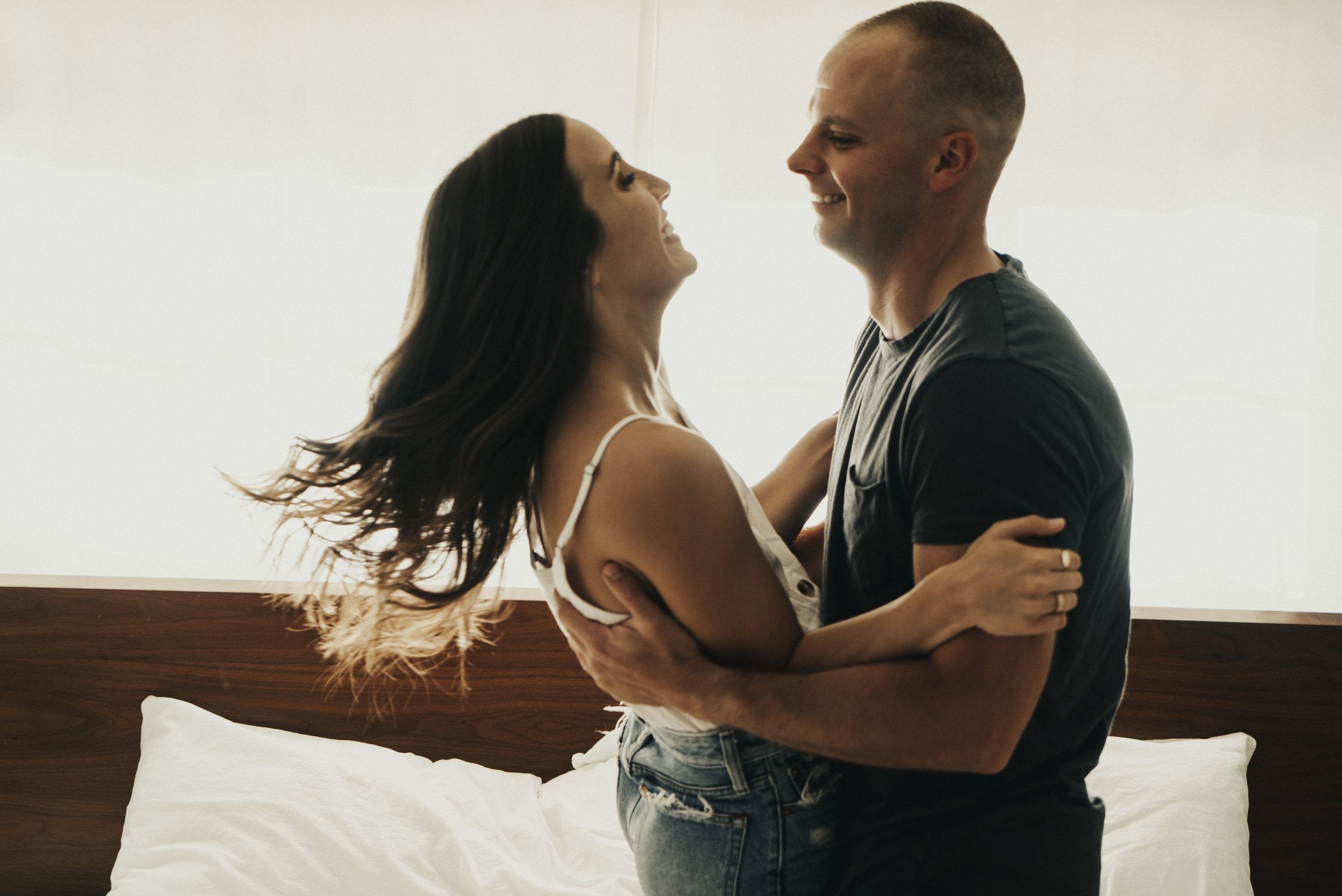 Michelle & Jerry - Sunday morning in-home session with this fun couple