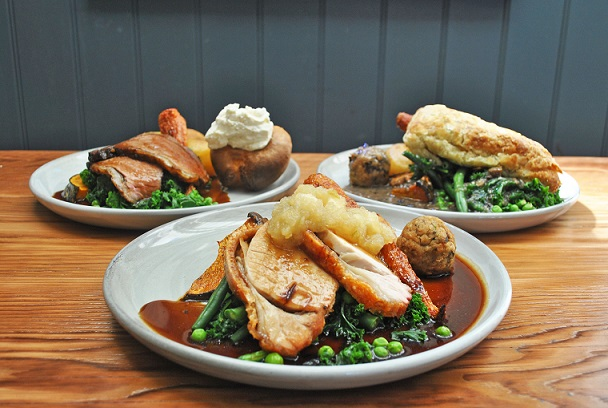 Sunday Roast - available every Sunday from midday    Chef's choice of:    Roast Sirloin of Beef $28    Roast Pork, Lamb or Vegetarian Wellington $26    All our roasts are served with roast potatoes, carrot, pumpkin and seasonal greens