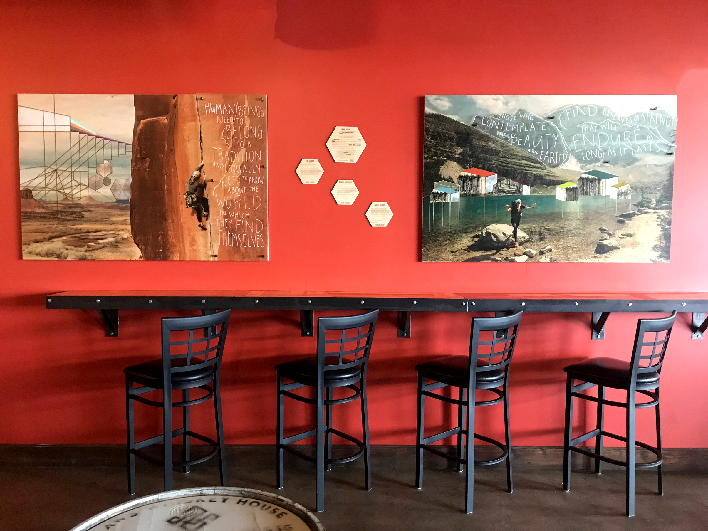 Both works are on display at Westfax Brewing Company in Lakewood, CO for Fall 2018, after which they will find a more permanent home.