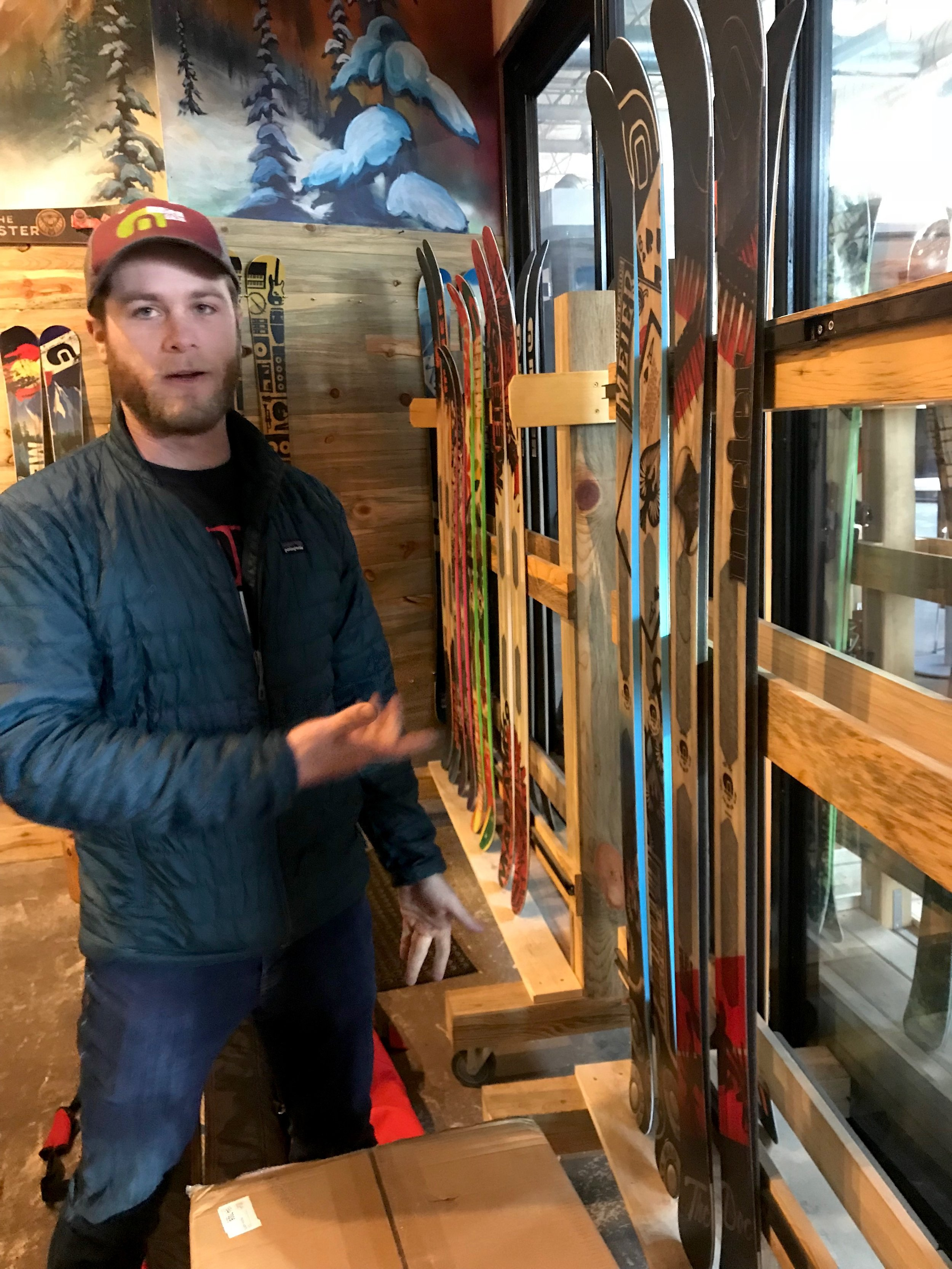 Chris Tamoney of Meier Skis introduces us to other custom designs, ported onto their handmade, beetlekill wood core skis and snowboards.