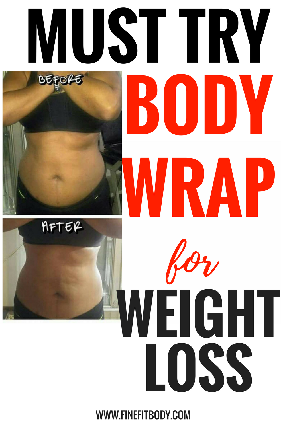 This body wrap for weight loss is amazing! It helps you lose weight in a week and have a flat belly. I love my before and after results from using this body wrap!