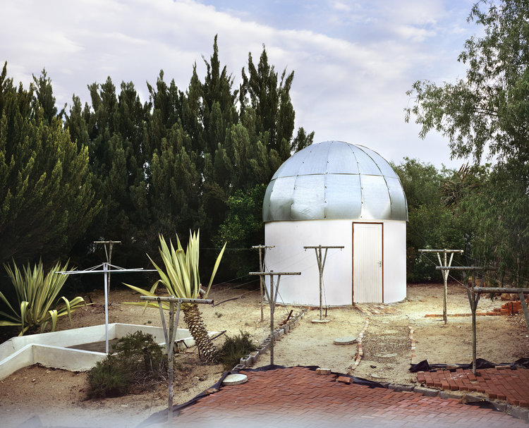 Personal observatory, Clanwilliam, Northern Cape.  Photograph from Hemelliggaam or The Attempt to Be Here Now, a project by Tommaso Fiscaletti and Nic Grobler. https://www.hemelliggaam.com/