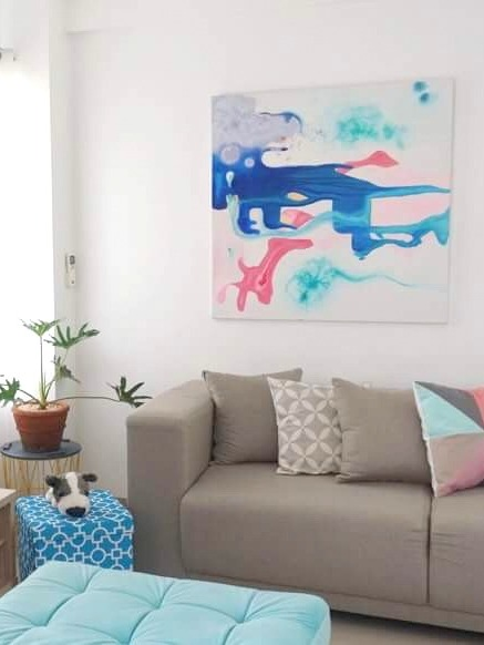 Preloved painting is a perfect match for its new home.