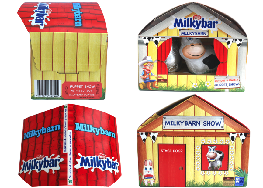 Above:  New Milkybarn reusable carton packs.