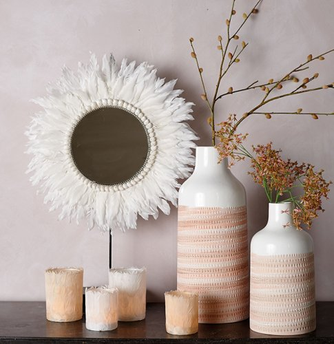 Blush tealight holders and feather mirror.jpg