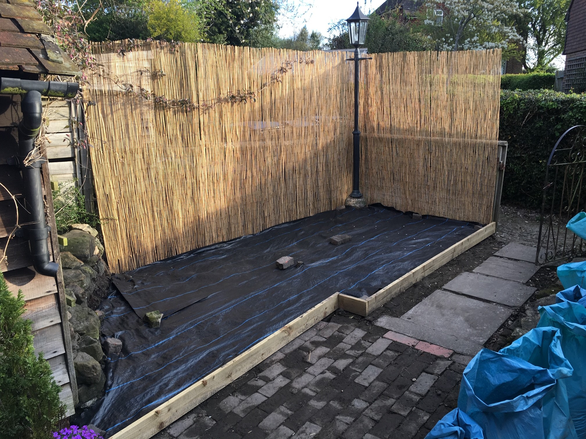 Levelled and screened off