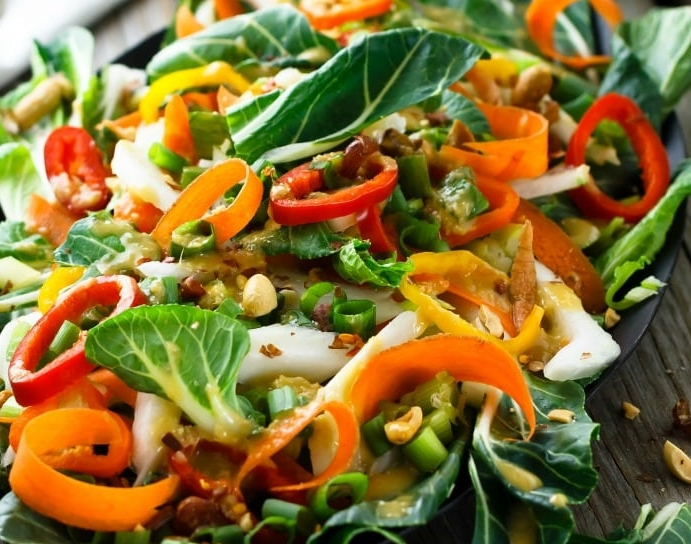 Bok Choy Salad - with Asian Ginger Dressing