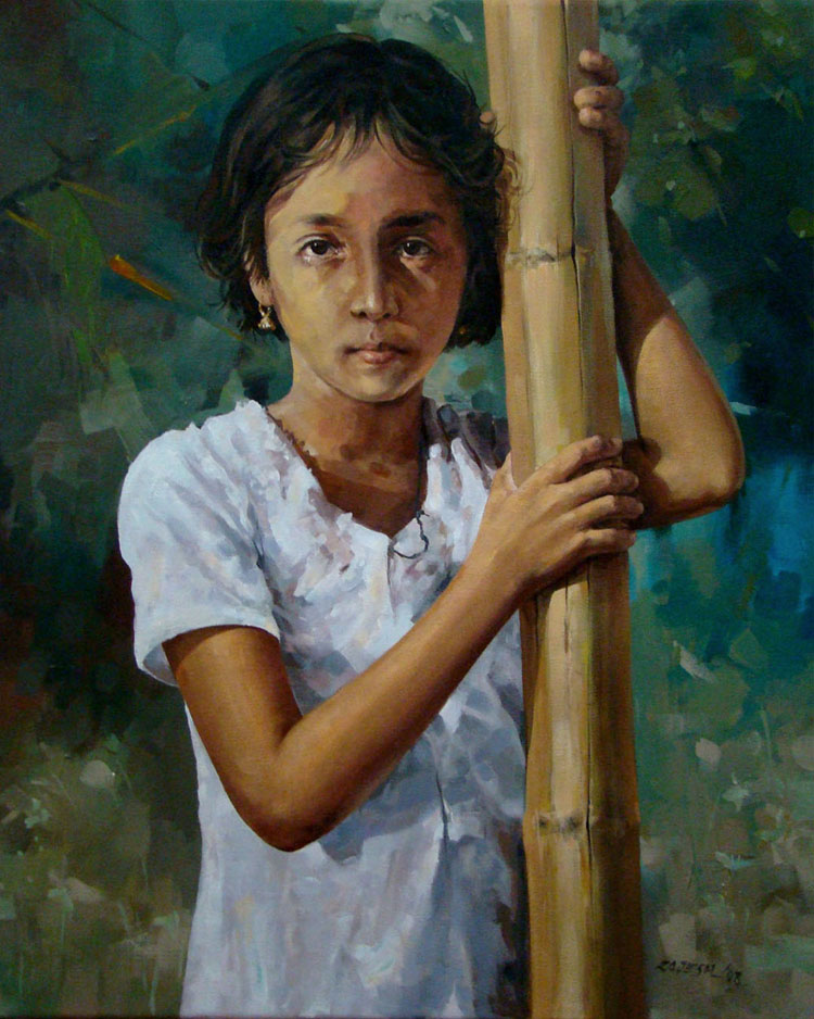 Shruthi  Acrylic on Canvas - 20x24 inches - 2008