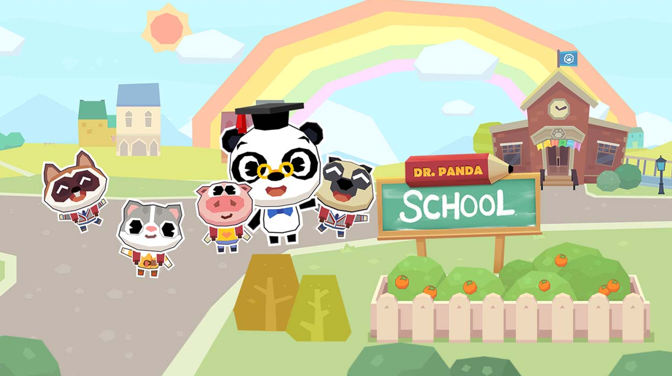 Dr. Panda School - A 2d virtual dollhouse that is focused on roleplay.My work was on level design and placement of objects to best inspire play and allow children to create their own stories.