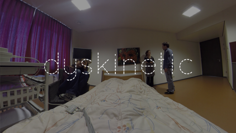 Dyskinetic(VR Film, PC/Oculus Rift DK1) - Writer & Technical Lead on VR film for PC/Oculus Rift DK1 // 2014A short live action drama about powerlessness where the viewer is confined on a bed. Commissioned for film festival GoShort (Nijnmegen, The Netherlands).