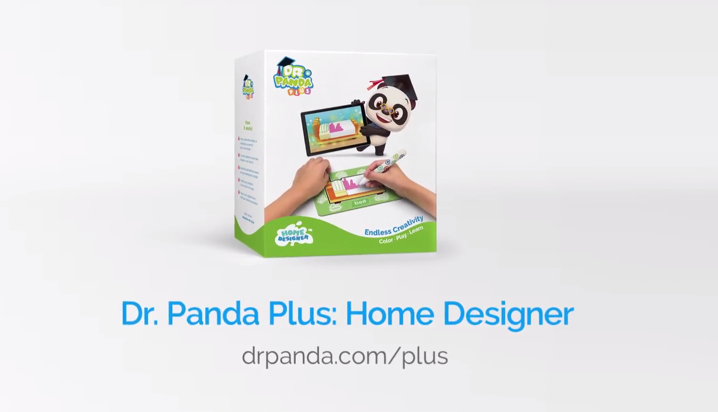 Dr. Panda Plus: Home Designer - An augmented reality product, combining a free app and a physical product that contains laminated flashcards and markers to colour the flashcards. A digital dollhouse, the app supports young children on spelling and gives the older children a magical playground to express their own creativity.I was the lead on this project. I worked closely with the head designer and the COO to design and produce this product.The project was then handed over to the COO at a beta stage for her to finalise the logistical chain of the physical product.