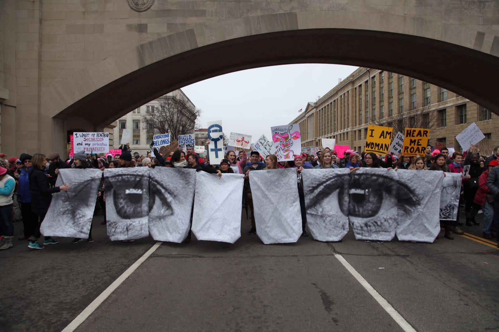 From the Women's March in Washington Inside Out Project by  JR  + street team