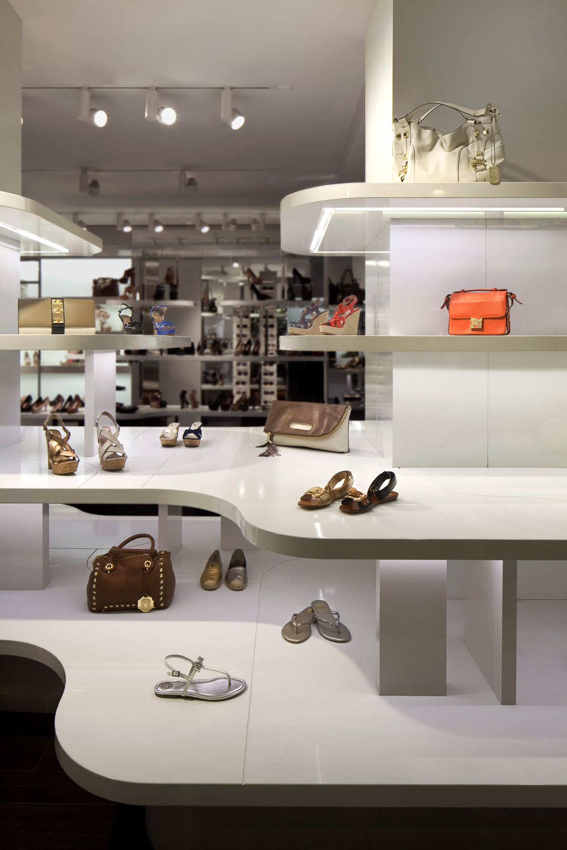 Display Shelves for Shoes and Handbags