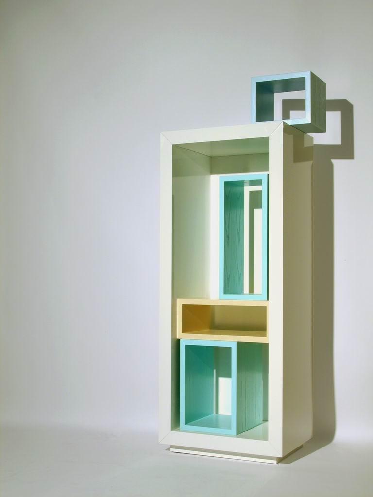 """Tetris sbagliato"" (Wrong Tetris) Bookcase"