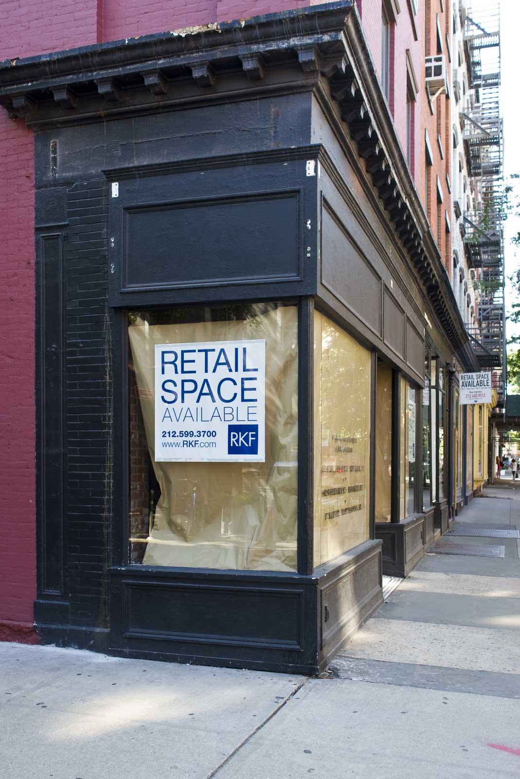 Empty store on Bleecker Street. Former Ralph Lauren