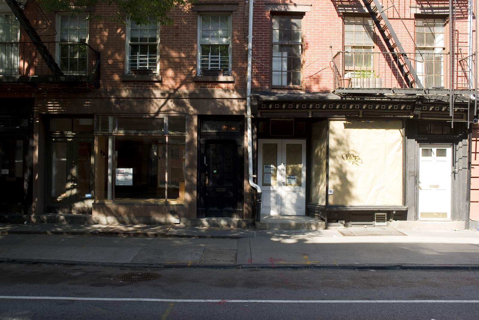 More empty spaces on Bleecker Street in New York