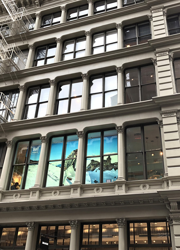 Suit Supply occupies the 2nd and 3rd floors in Soho prime retail neighborhood