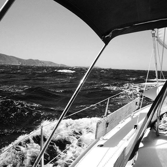 """I look on life as a joyous adventure."" -Ernie Harwell . . . . . . . . . #photographylife #karinakusdinar #adventure #sailing #oceanlife #sydneylife #sydneyview #melbournelife #lifeisgood #helloweekend #friday #quotestoliveby #lifequotes #selflove #ilovemyjob #traveldiary #visualsoflife #blackandwhite #bnw #bw #nature #sea #noir #blanc #seascape #oceanview #saltyair #seaview #autumnlove"