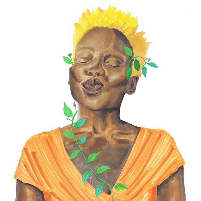 Art work for @sistersletter  Writer upile chisala.  #illustration