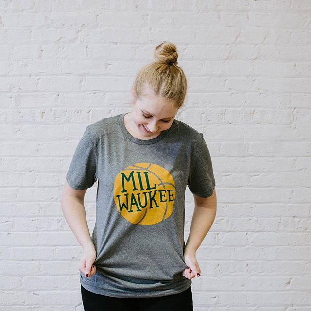 Jump on the bandwagon and sport this Milwaukee Basketball tee. 👏🏼🏀 Available in XS - XL. Free standard shipping on every order. Tap to shop. . . #gustomercantile #gustomerc #milwaukeebasketball #basketballfans #bucksshirt #milwaukeebucks #milwaukee #milwaukeewi #mymkehome #milwaukeehome #milwaukeeshirt #milwaukeegifts