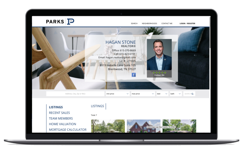 Agent Website - Provide your clients with a professional looking resource for the most current information on listings, your expertise and specialties, and top-notch customer service. Our agent websites are fully responsive on all desktops, phones, and tablets.
