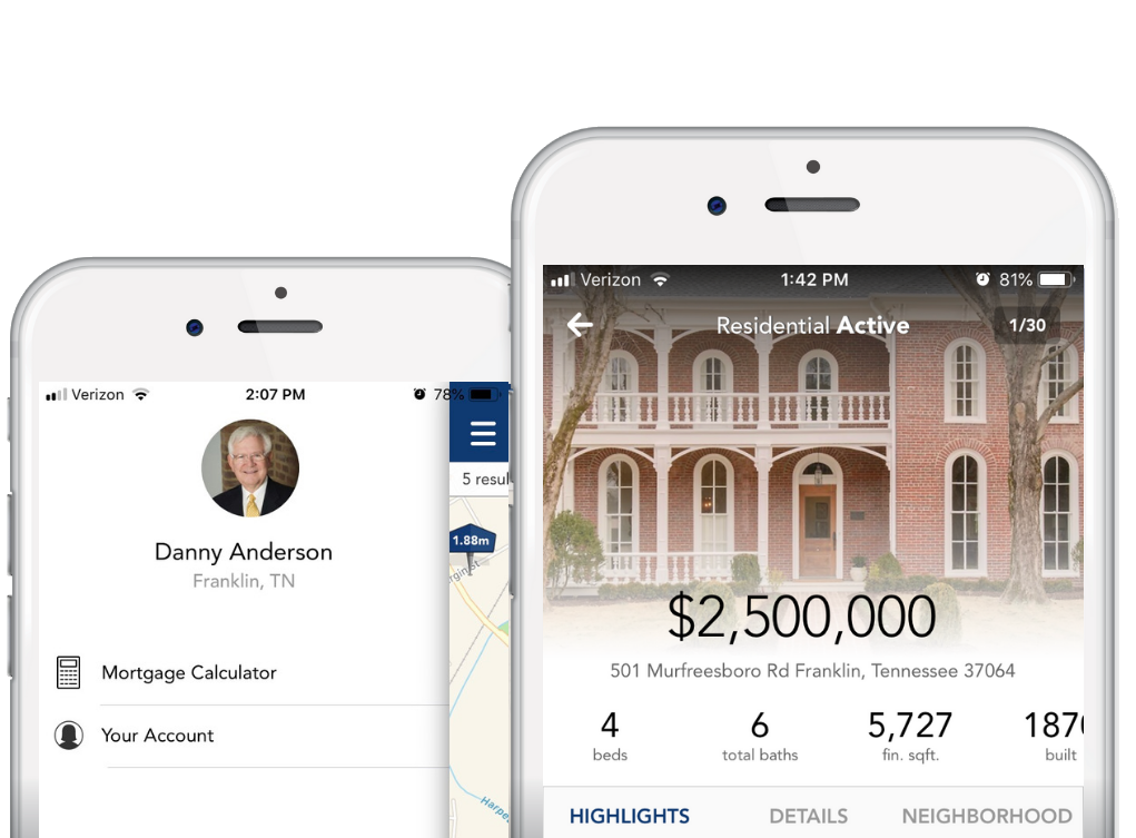 Mobile App - The Parks App is branded with your information and takes your clients' home search on the go.