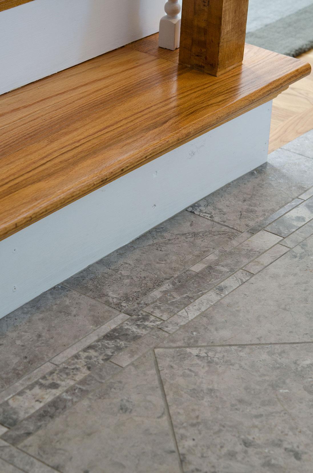 Quincy, MA custom tiles entry way floor