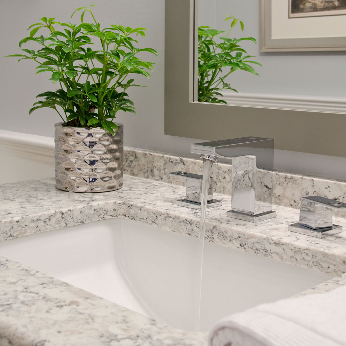 Bathroom sink design by Susan Curtis Interiors