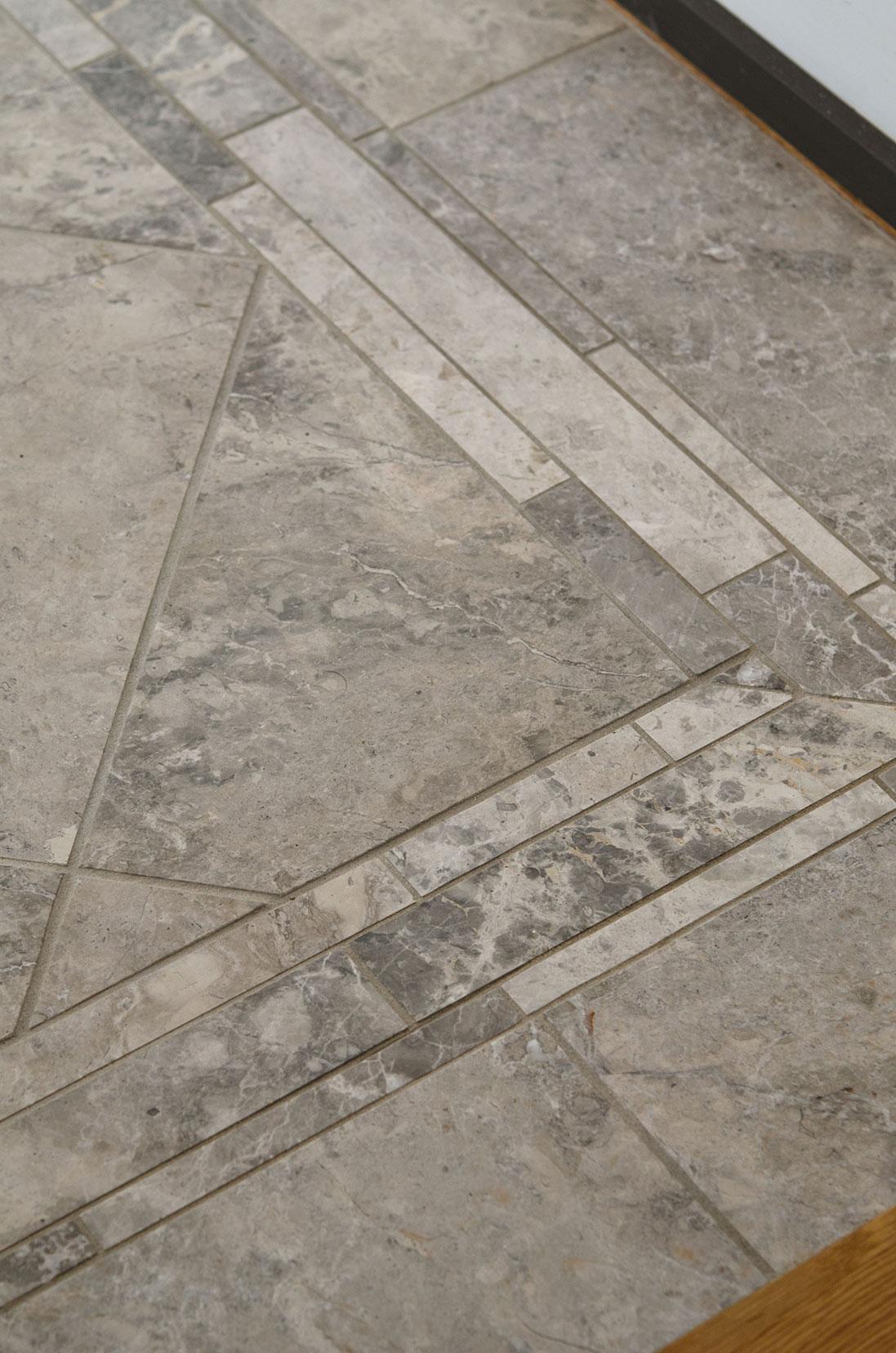 Quincy, MA custom tiled foyer