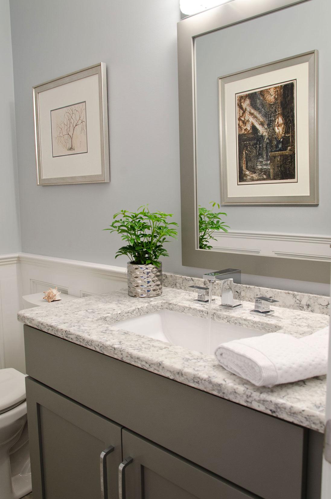 Quincy, MA Powder room interior design