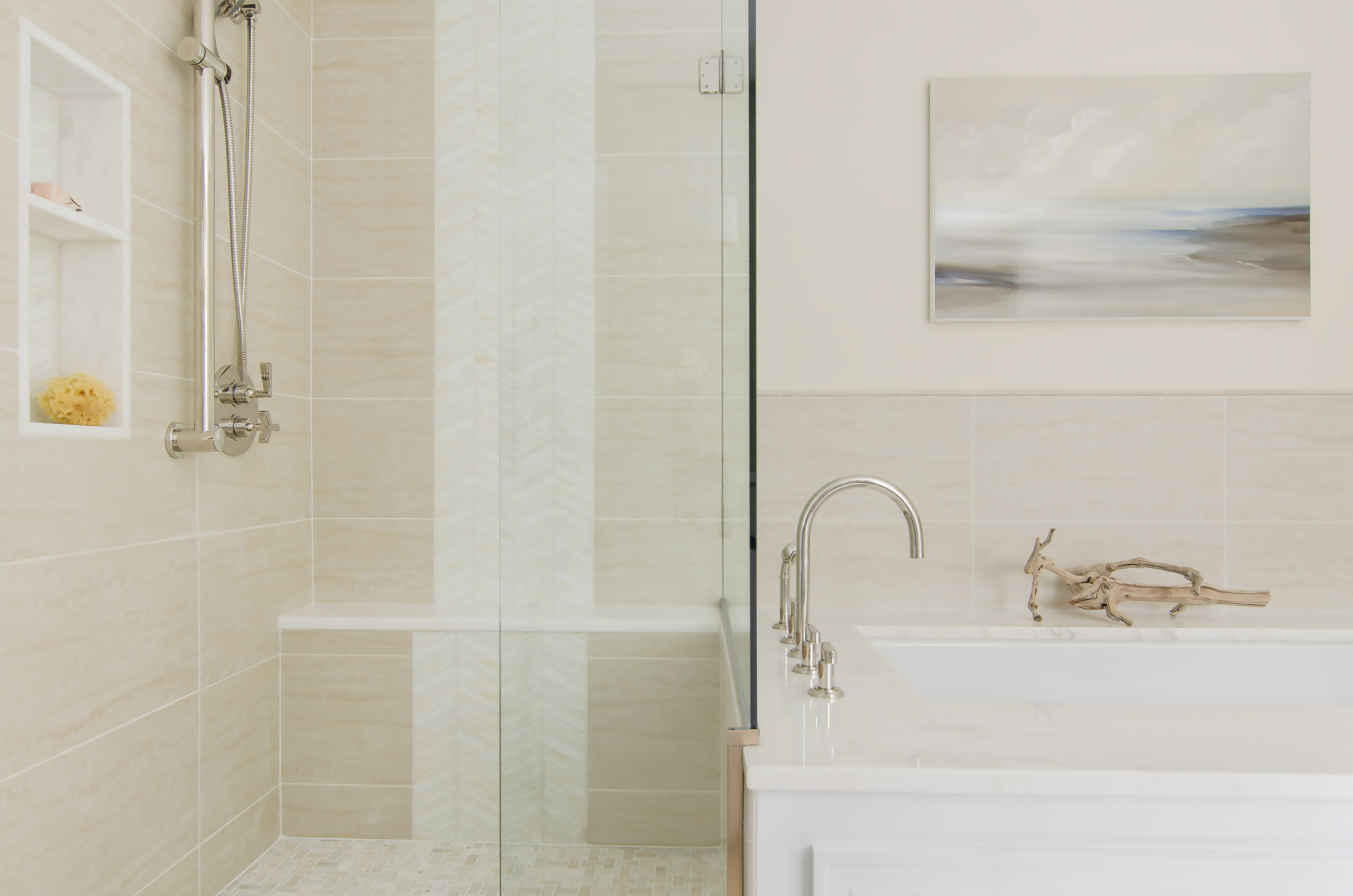 Norwell, Ma bathroom revitalization by Susan Curtis Interiors