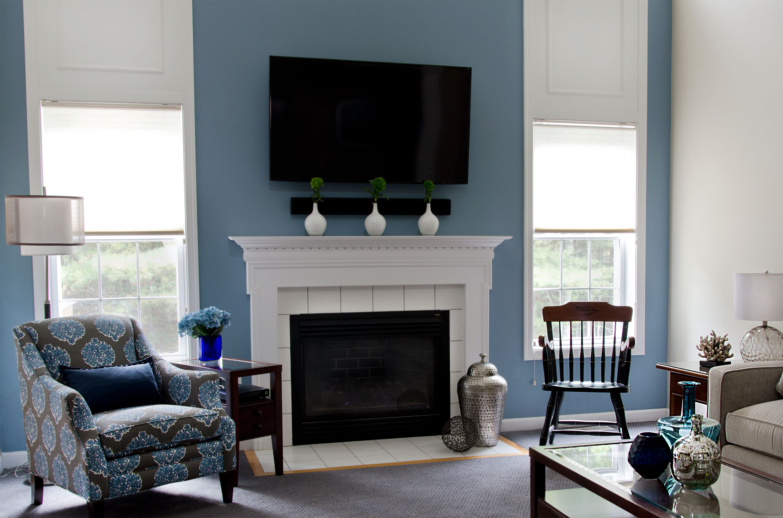 Plymouth, MA Living room interior desing by Susan Curtis