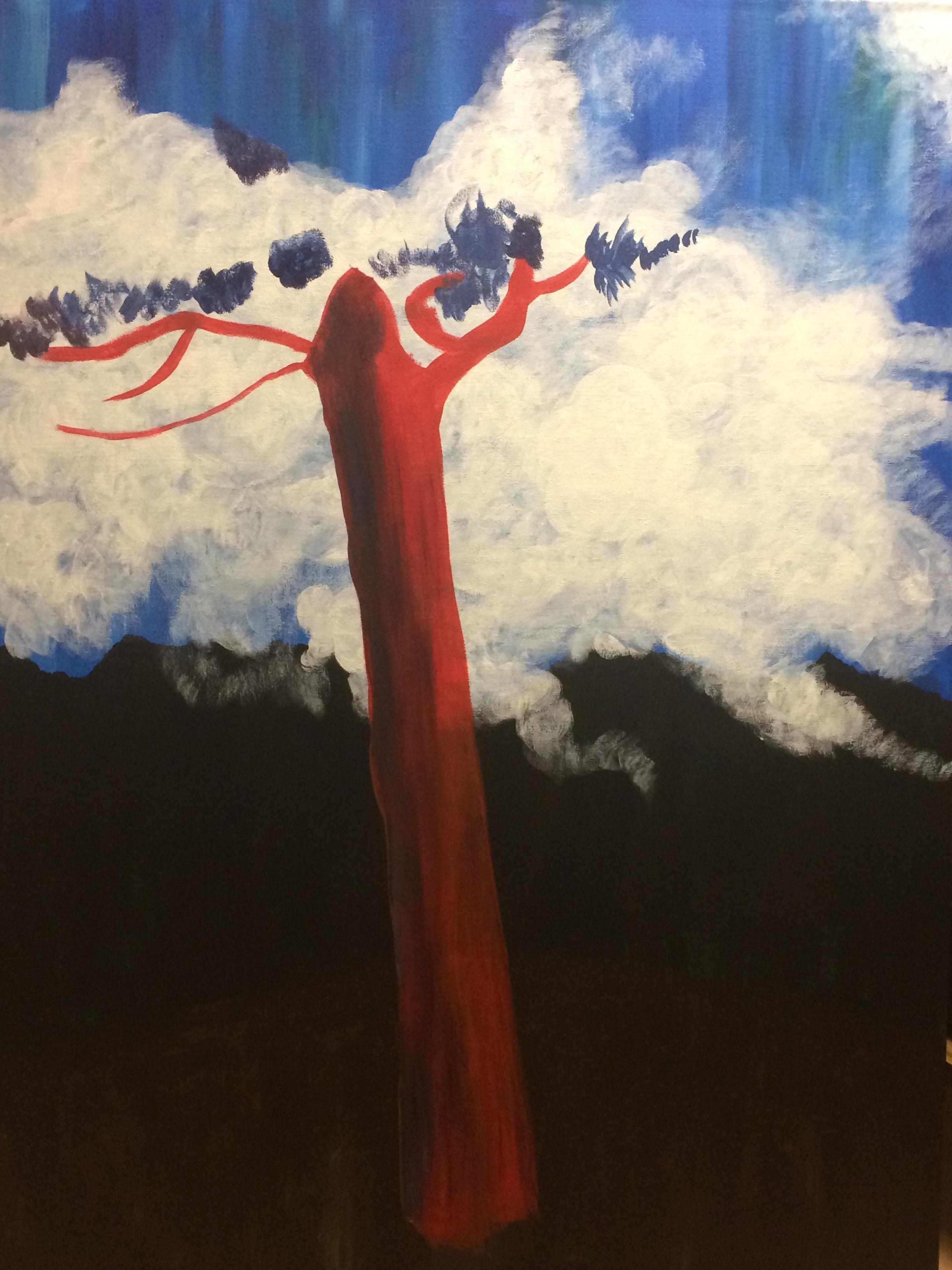 This image shows how I started the red tree ©Francesca Bandino