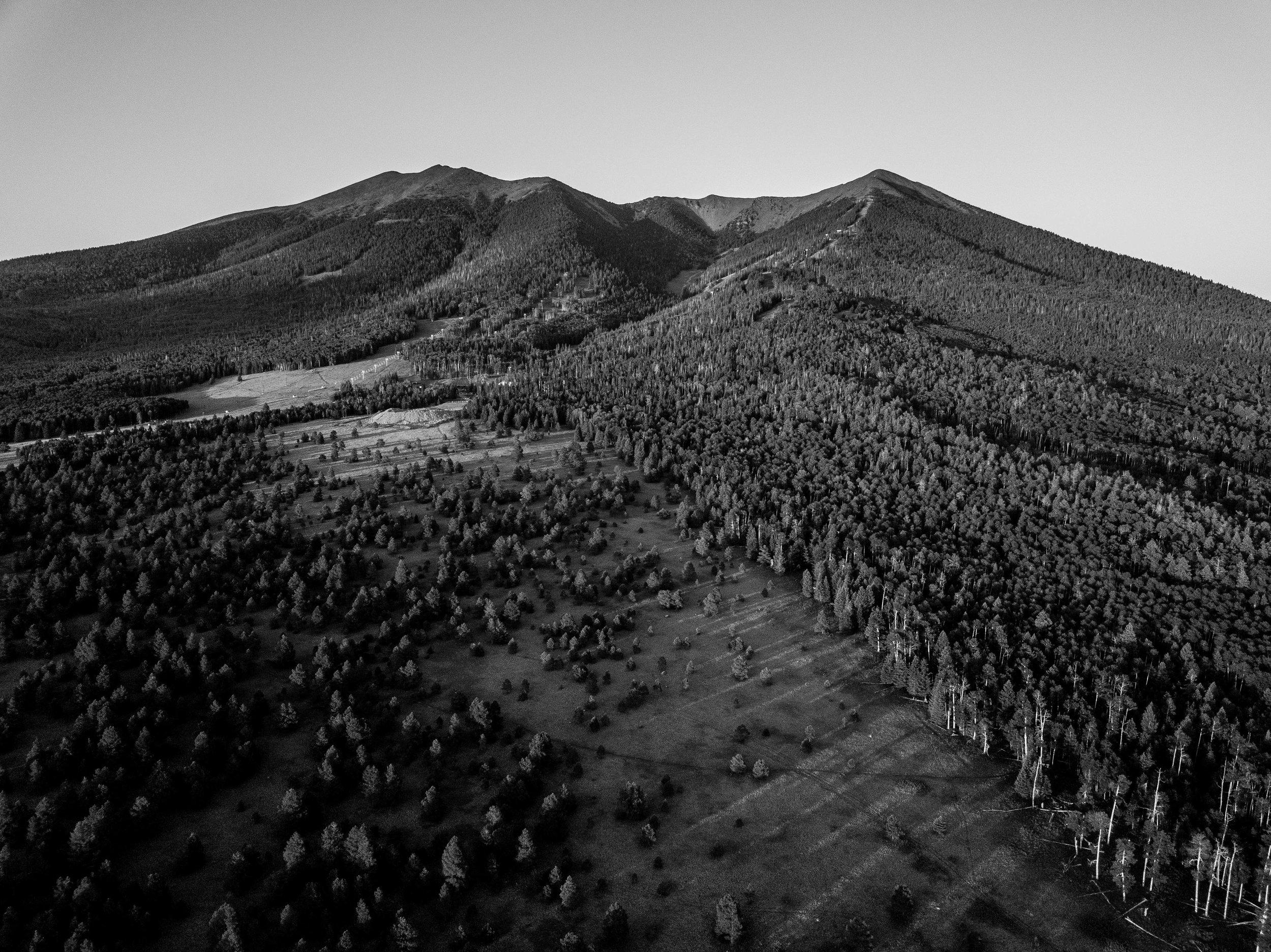 The Peaks from the west side, near alfa fia tank.