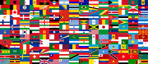 collage de las banderas del mundo