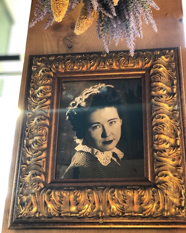 #tbt The walls of @southernproperboston are covered with the childhood of @cheek80 This is Nona Robertson, the grandmother who laid the tracks that lead to our front door. Even if you never noticed this picture, she's noticed you. Pay your respects. Eat well. #foodmemories #grandmaskitchen