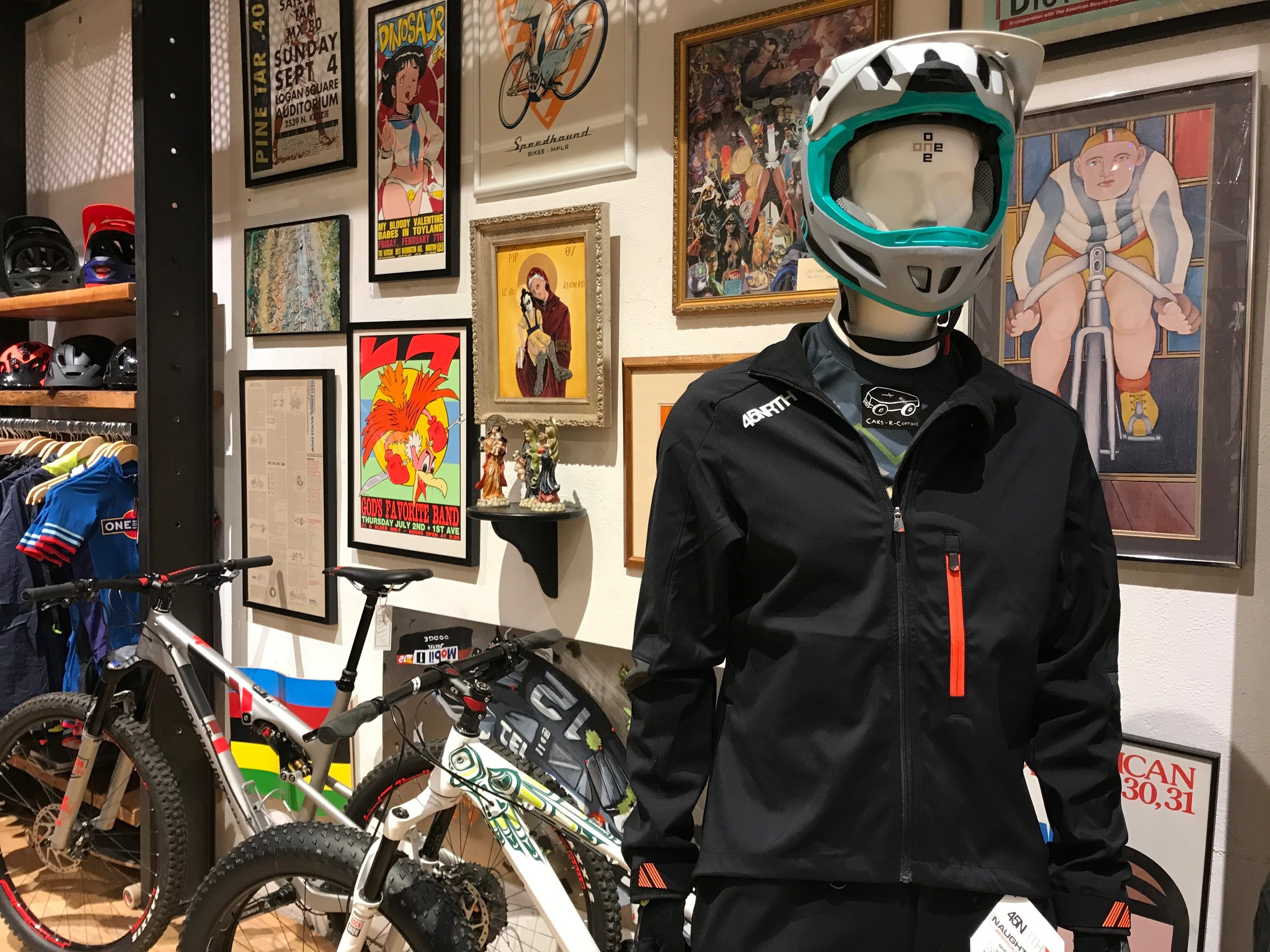 One on One Bicycle Studio in the North Loop neighborhood of Minneapolis offers killer gear, local art, and a damn good cup of joe.