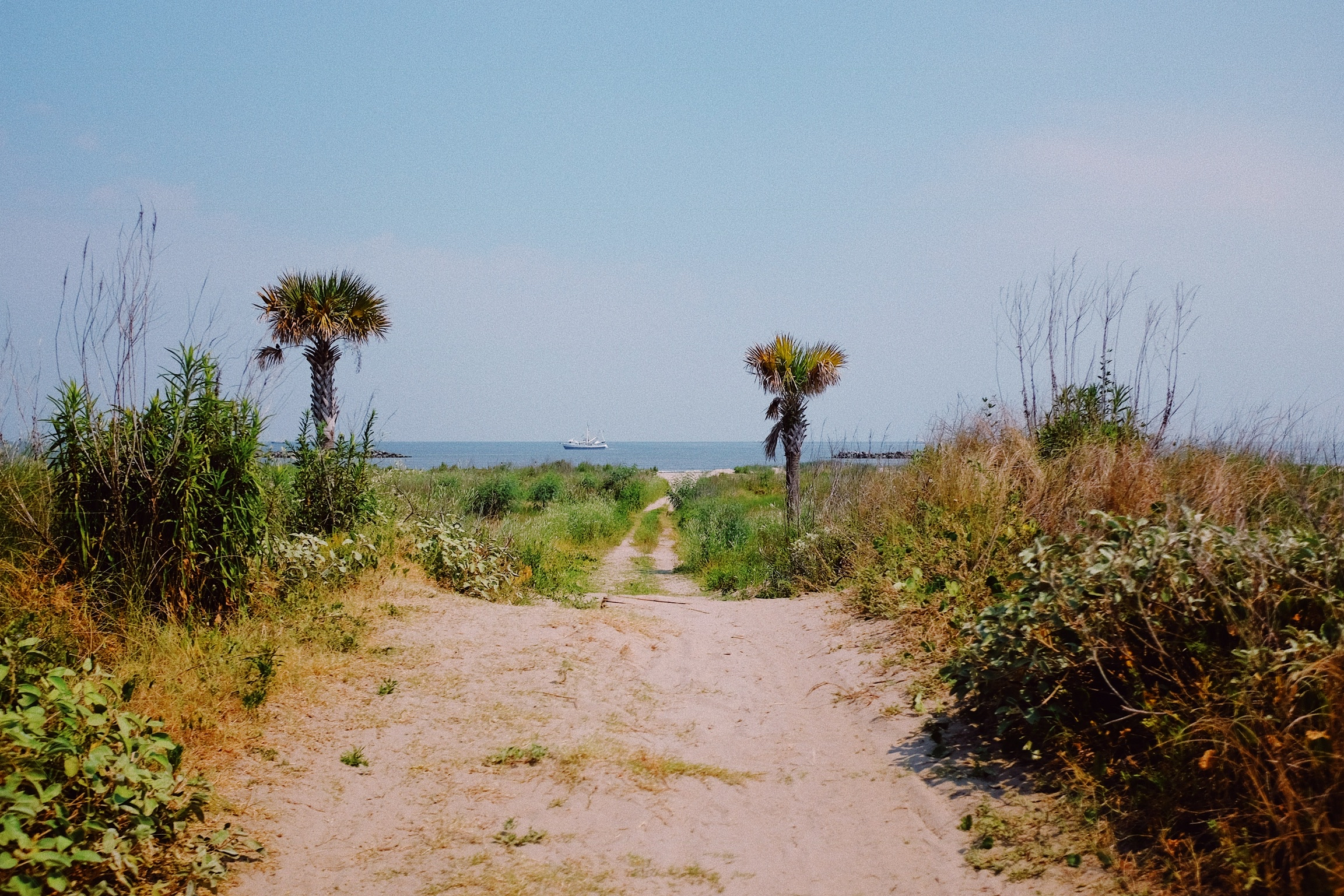 One of the many levee crossovers in Grand Isle providing easy access to the beach.