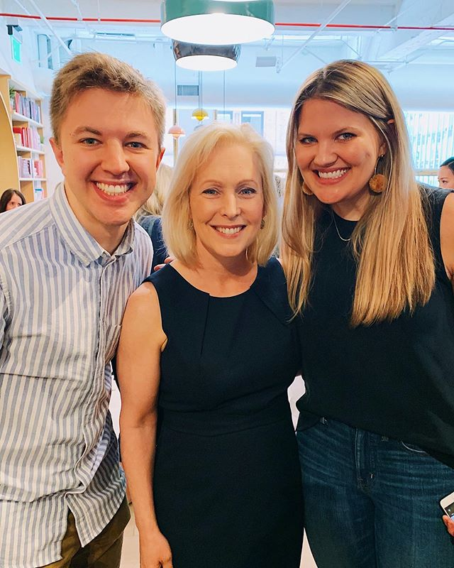 got to meet @kirstengillibrand at @the.wing today and hear her vision for a more inclusive and equitable america. psa: she has still not reached the necessary amount of donors to earn a spot on the debate stage, so even if you are still undecided, throwing even a dollar her way will help keep her voice in the race!