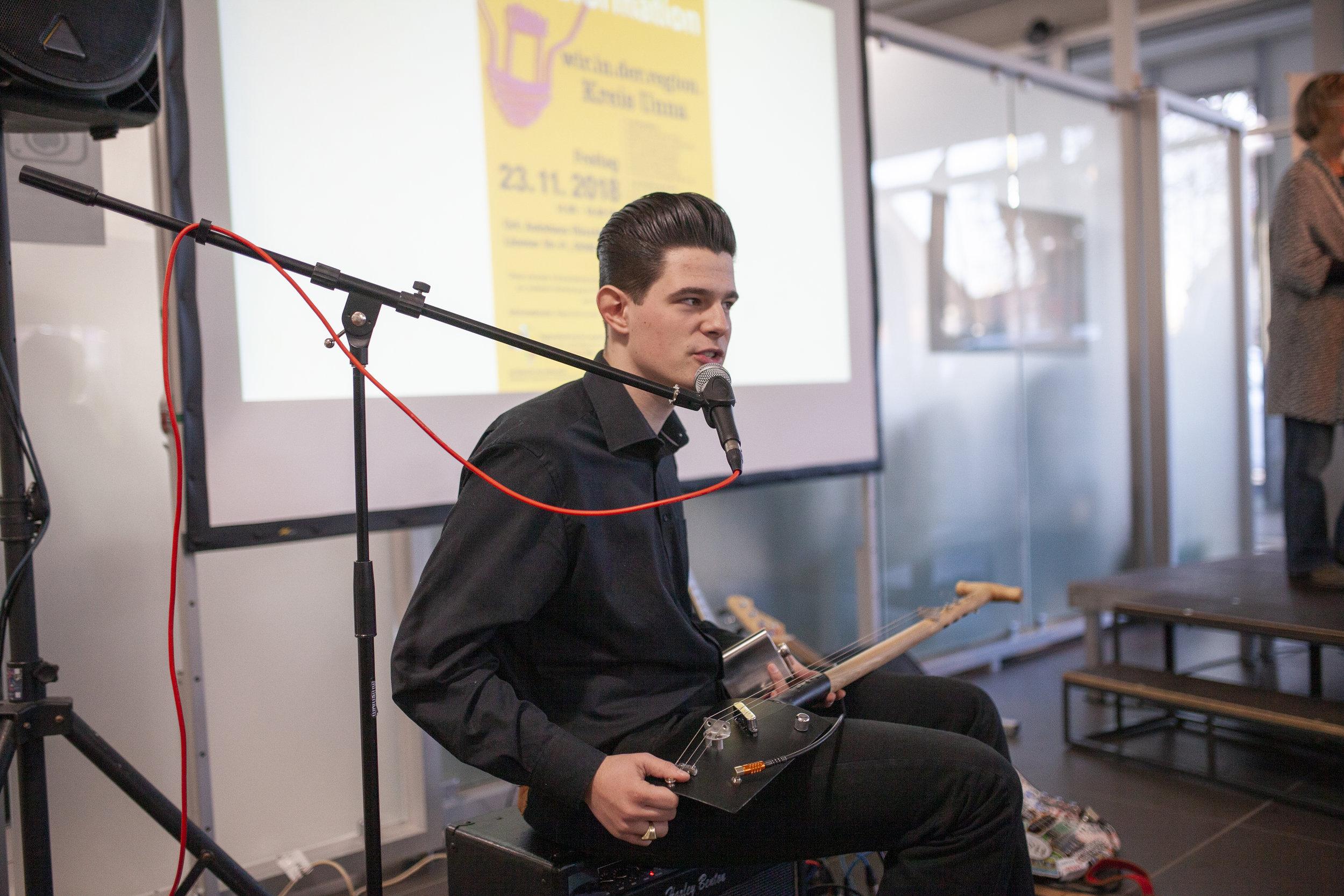 Lukas Rieger, Musiker und angehender Sound-Ingenieur
