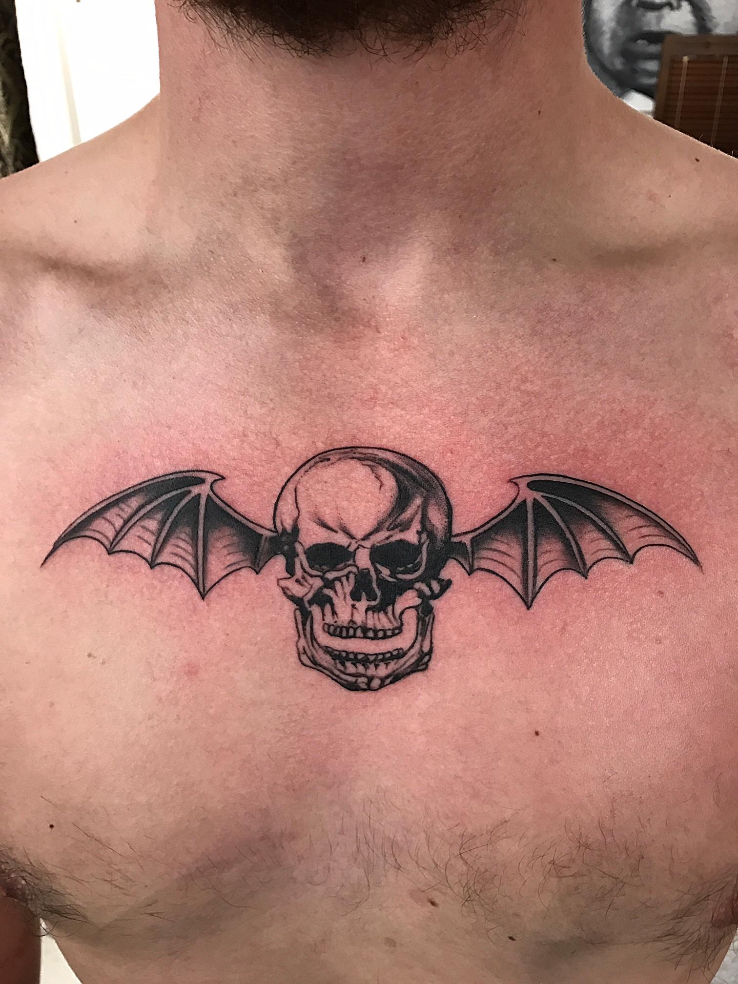 Avenged Sevenfold bat skull.JPG