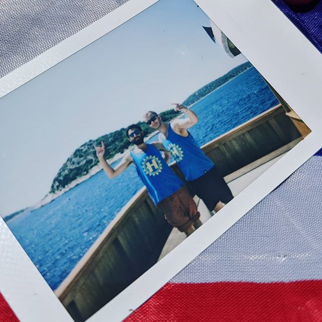 Live like Kings. Polaroid courtesy of @mack_waite25 . . . #travel #travels #travelphotography #portait #portraitphotography #polaroid #croatia #tisno #hospitalityonthebeach #boatparty #blueskies #bluewaters #goodtimes #goodvibes @londonelek @spydnb @nulogic_dnb
