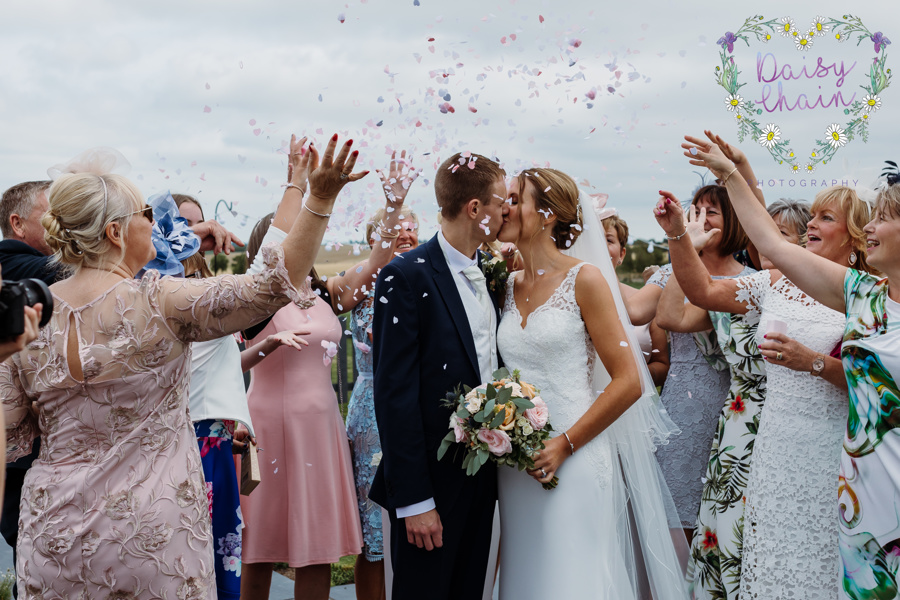 Lancashire wedding - confetti shot