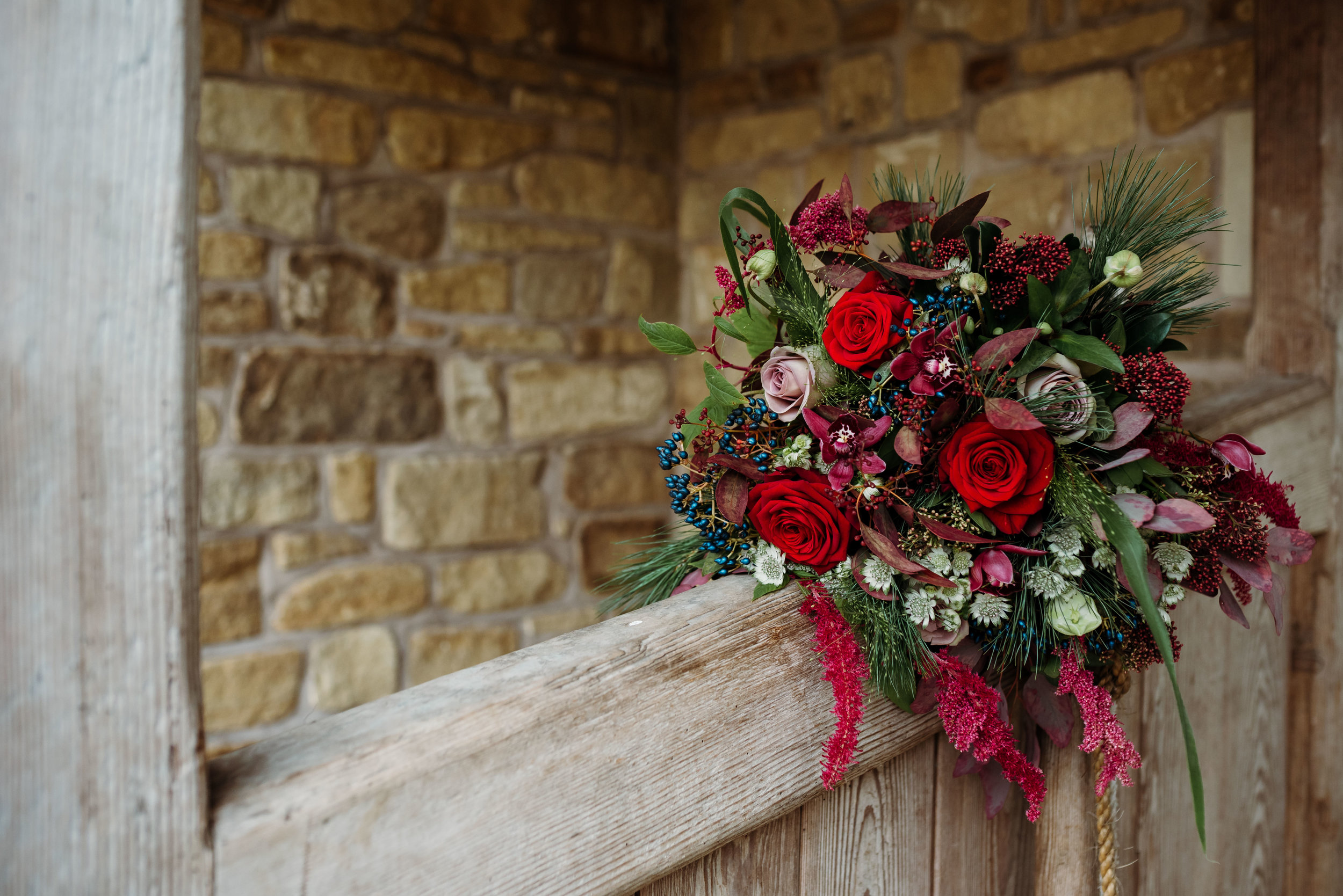Bashall Barn - rustic wedding bouquet