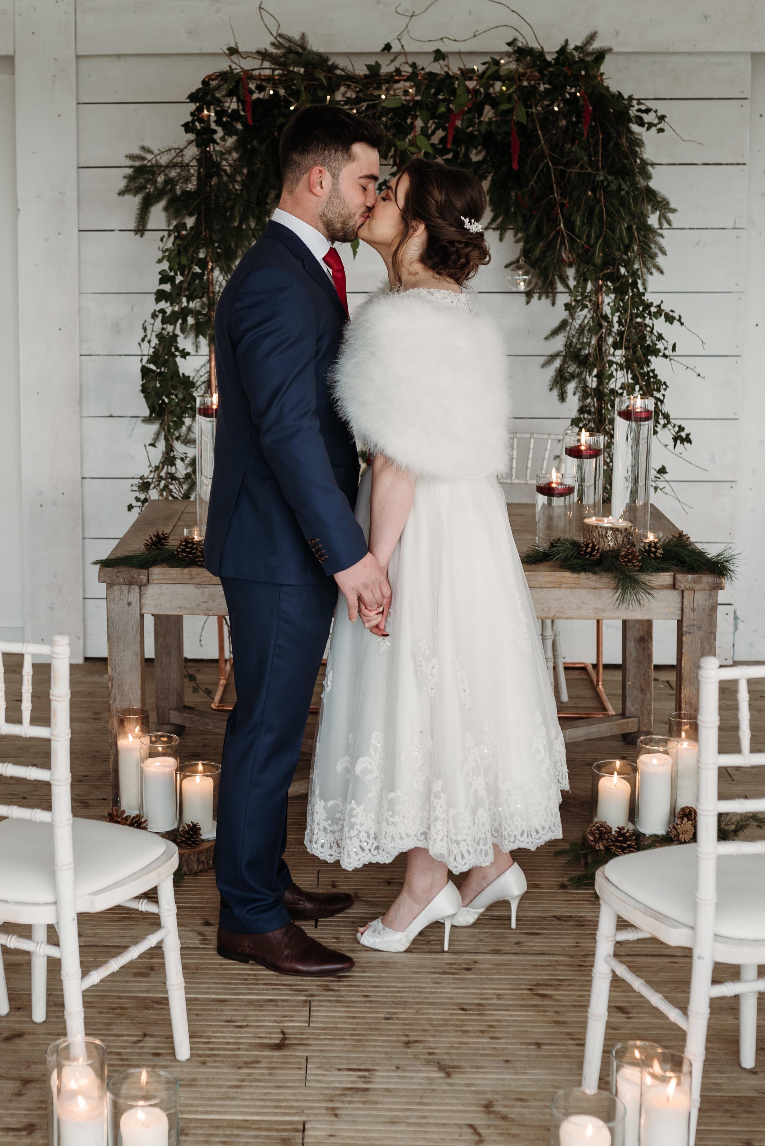 Bashall Barn winter wedding