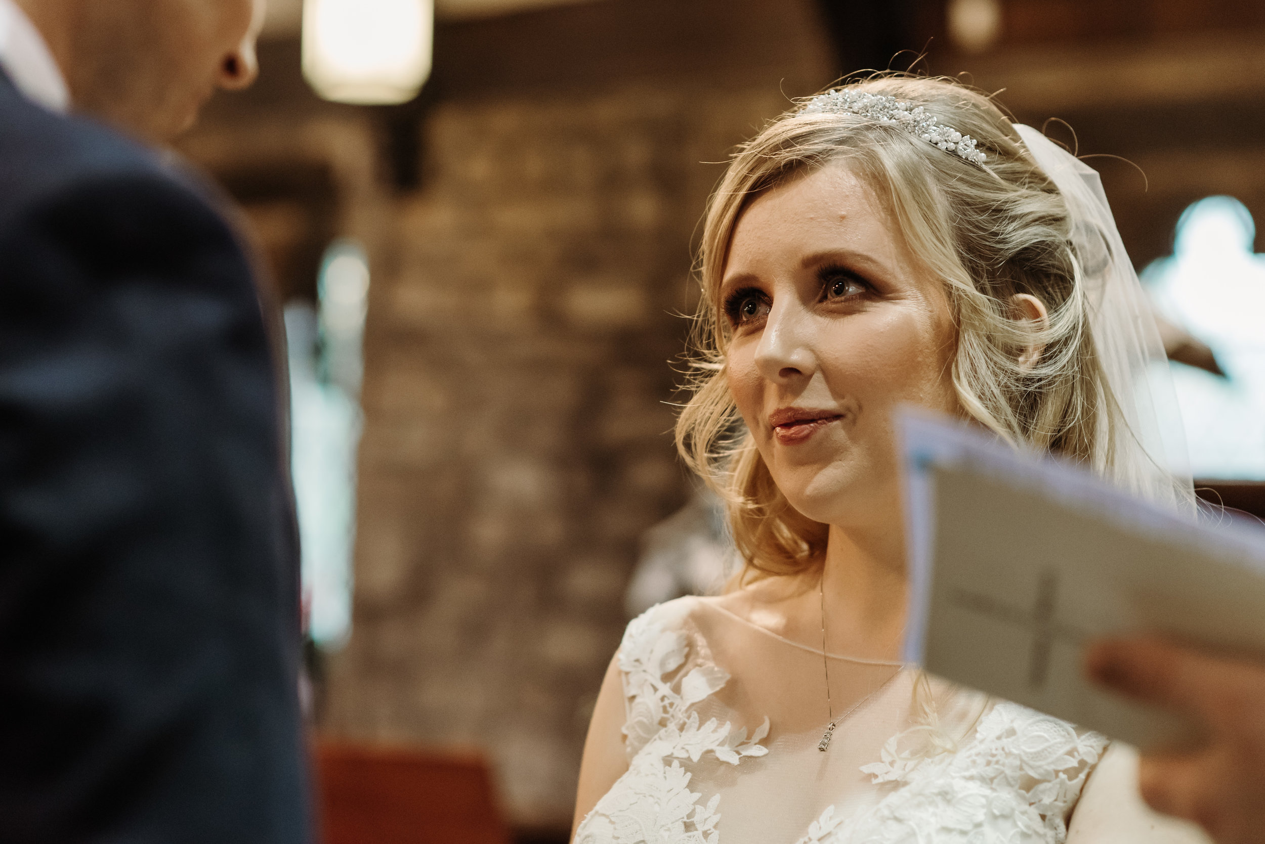 The look of love - Clitheroe wedding photographer