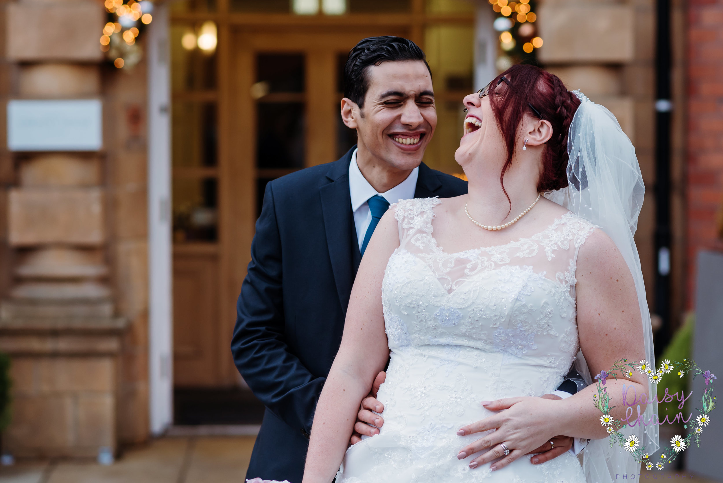 bride and groom - cheadle house, cheshire wedding