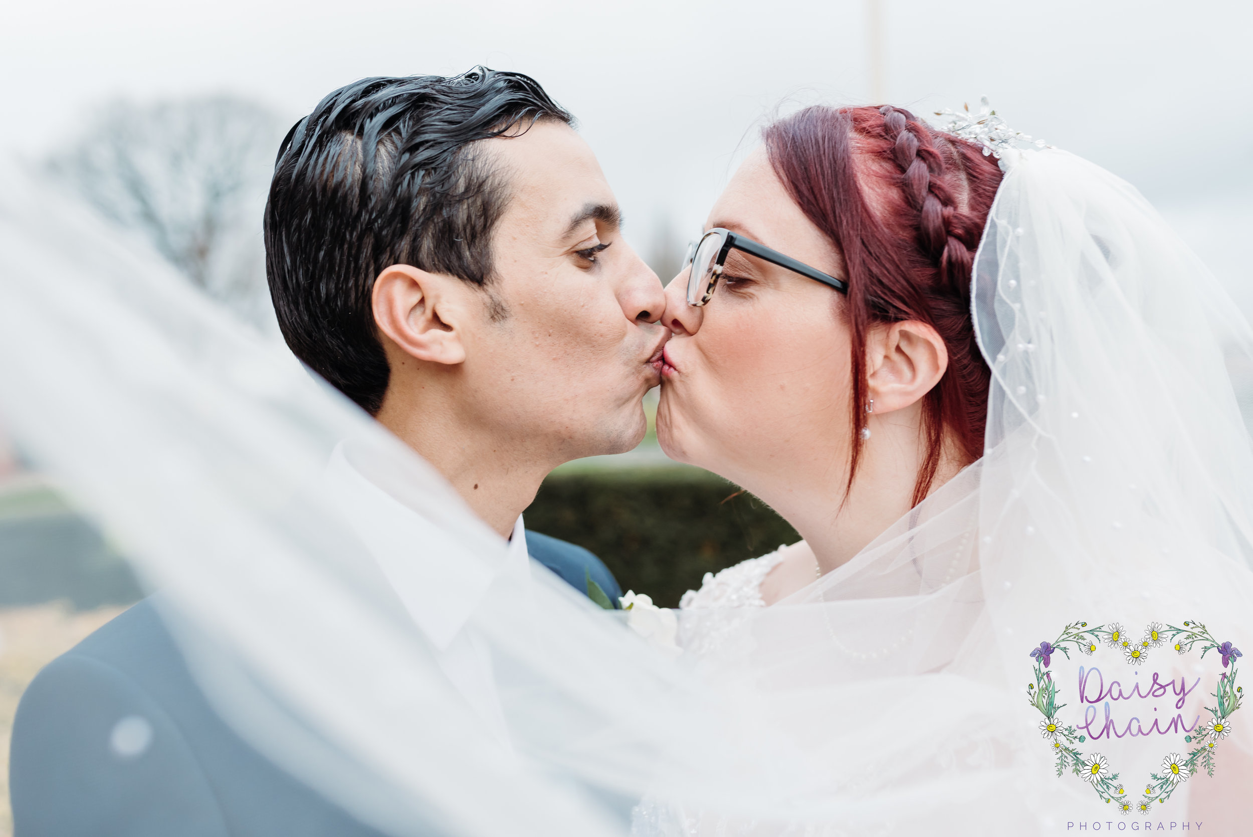veil shot - cheshire wedding