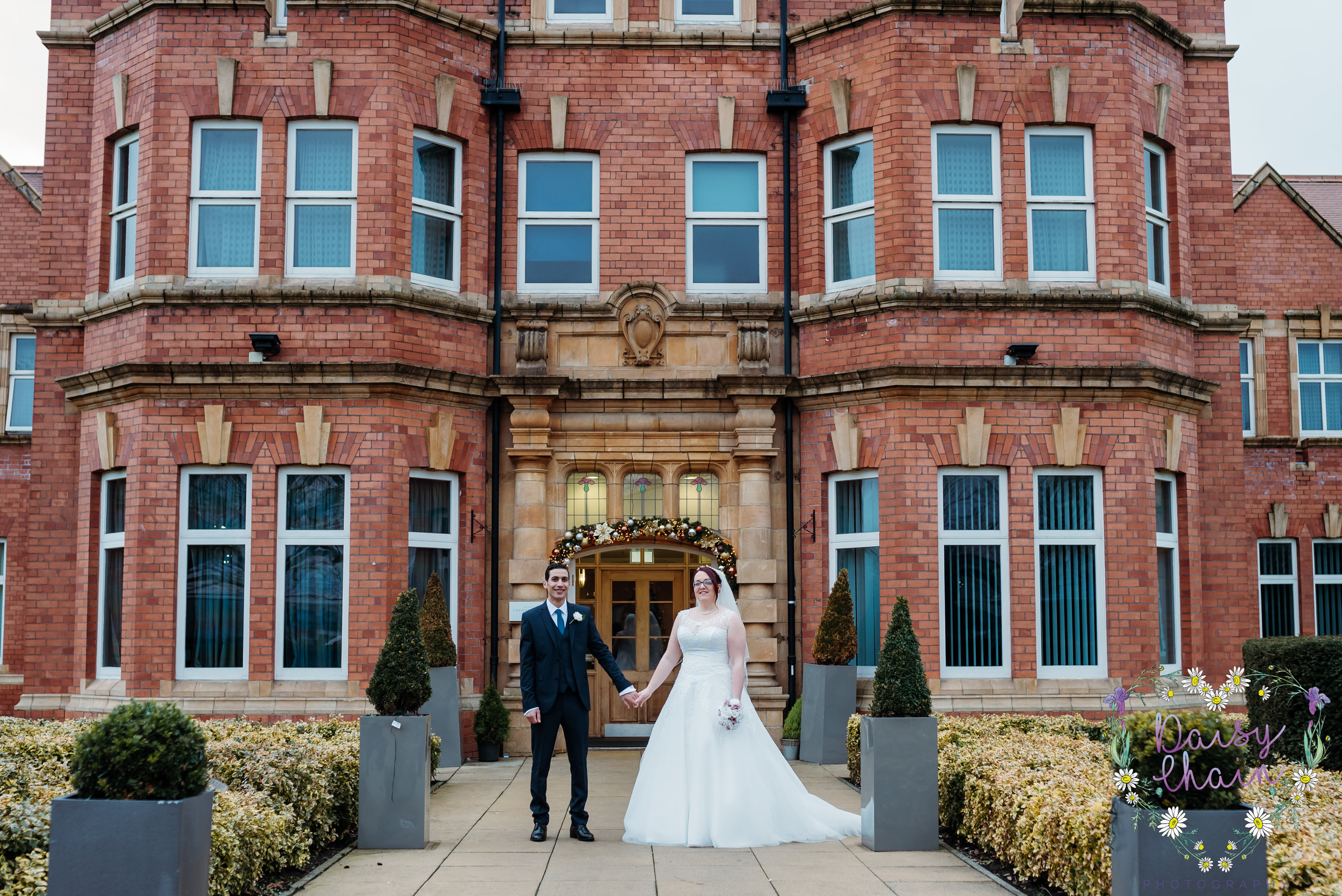 Bride and groom - cheadle house